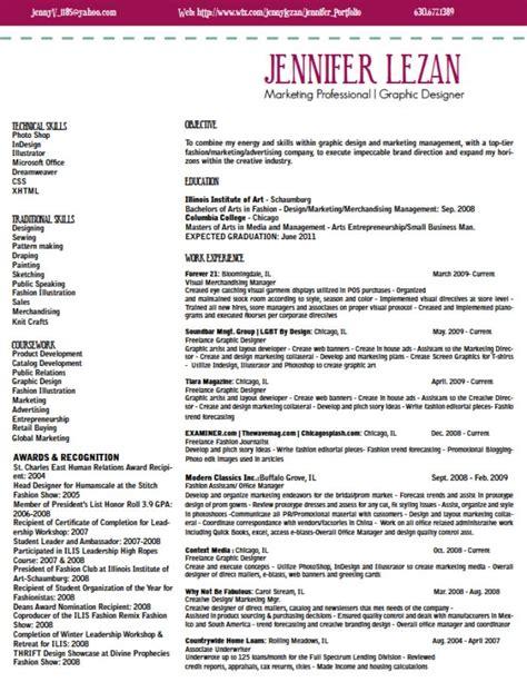 graphic fashion marketing resume by lezan at coroflot