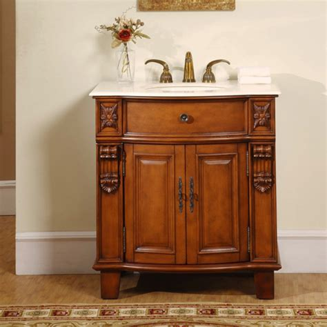 33 Inch Bathroom Vanity 33 Inch Carved Single Sink Vanity Cabinet Uvsr020433