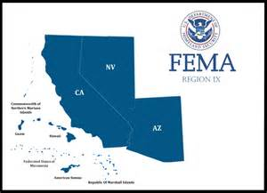 fema region ix arizona california hawaii nevada the
