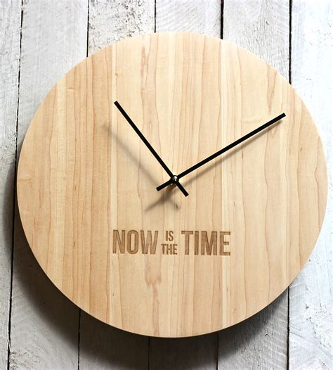 wood clock now is the time wood clock home decor lighting