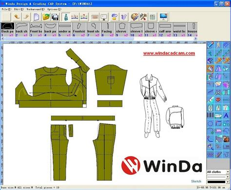 Quilt Cad Software by Clothing Design Patterns 171 Free Patterns