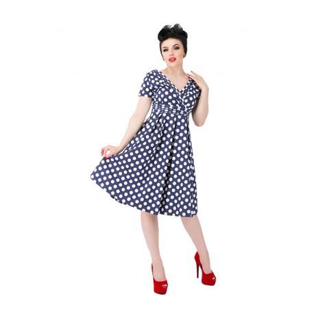 Sale Dress Polka By Gudangonline75 darcy blue polka dot dress audreys vintage