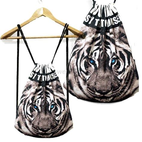 Print Travel Drawstring Bag travel bag casual drawstring backpack string bag rucksack