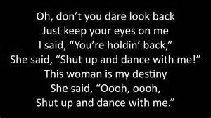 hip swing lyrics song shut up and dance liss cardio workout