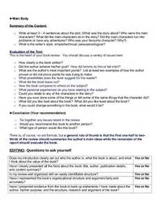 Book Review Sle Essay by Book Review Format 1