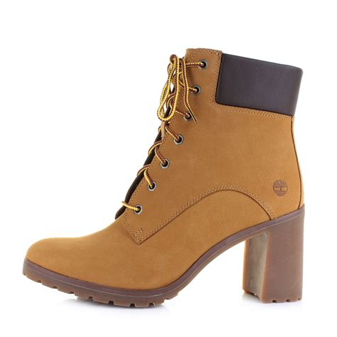 womens timberland allington 6 inch lace wheat heeled ankle