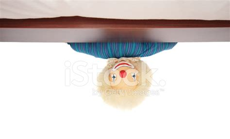 clown under bed clown under the bed stock photos freeimages com