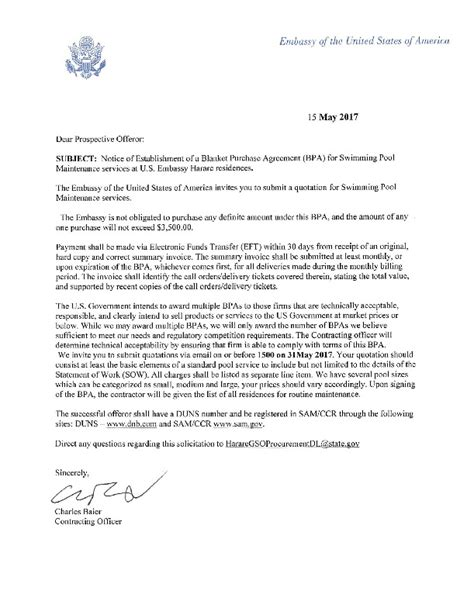 Employment Letter Us Embassy signed cover letter u s embassy in