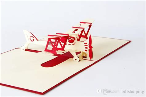 Templates For Handmade Airplane 3d Pop Up Card by 3d Handmade Pop Up Greeting Cards Plane Design Thank You