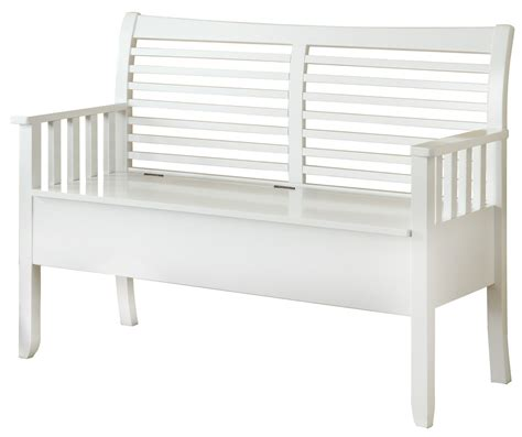 white wood bench with storage 4506 white solid wood storage bench i 4506 monarch