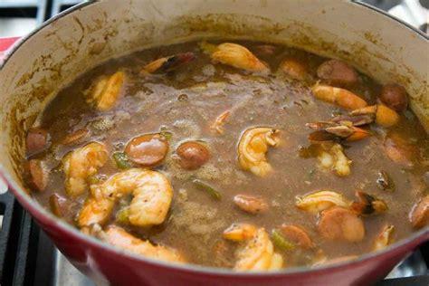 printable gumbo recipes shrimp gumbo with andouille sausage recipe simplyrecipes com