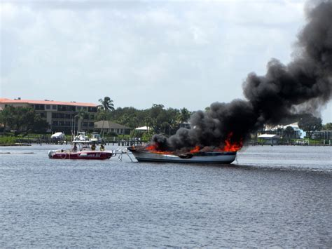 tow boat us bahamas sailboat fire at our marina sv seas the day