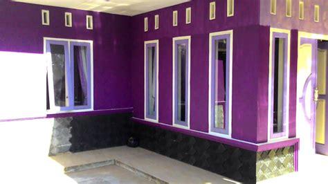 desain terbaru kombinasi warna cat ungu rumah minimalis