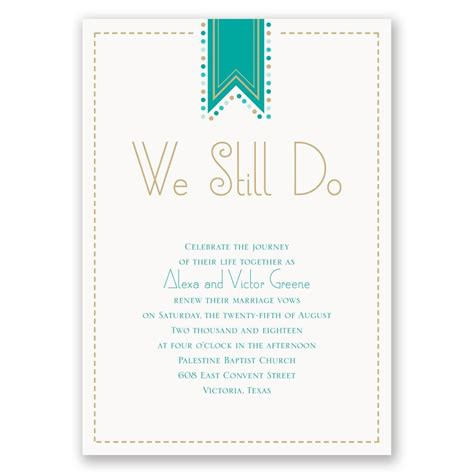wedding vow renewal banner banner and dots vow renewal invitation invitations by
