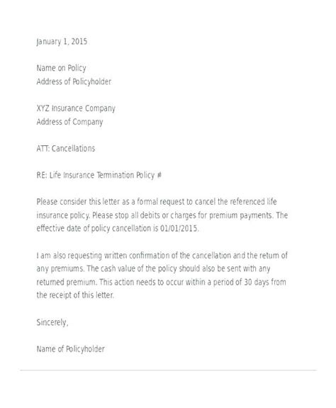 Policy Cancellation Template Arabnorma Info Personal Cancellation Policy Template