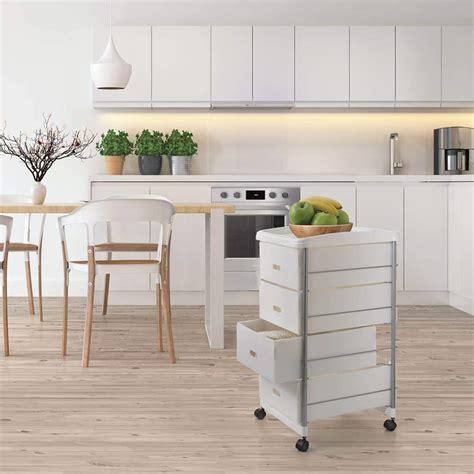 carrello cucina con cassetti scaffaletto carrello cassettiera da cucina con 4 cassetti