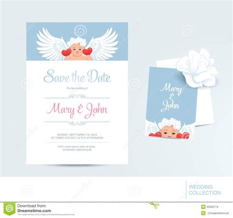 template savings card save the date collection vector illustration