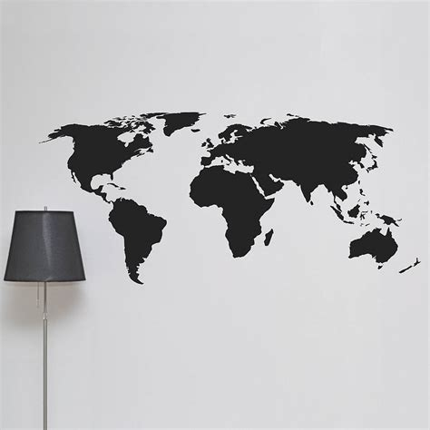 map of the world stickers for walls world map wall sticker by leonora hammond