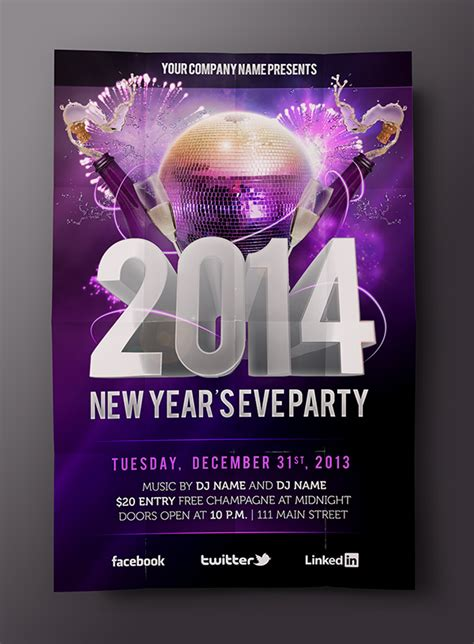 new year photoshop template free new year s psd flyer template on behance