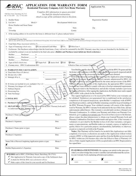 1 Year Builders Warranty Fha by Rwc Marketing Enrollment Rwc Warranty