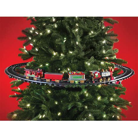 the in tree christmas train hammacher schlemmer