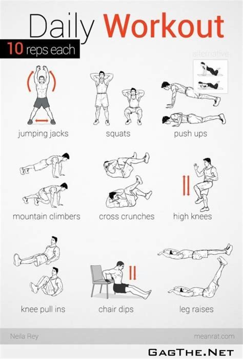 daily workouts at home to burn get fit a listly list