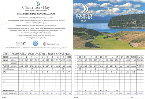 chambers bay layout for us open chambers bay golf course hole by hole scorecard