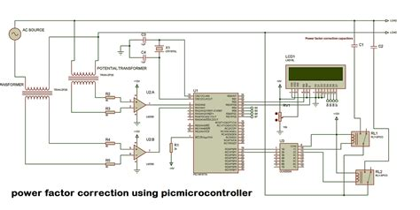 power factor correction project automatic power factor controller circuit using microcontroller