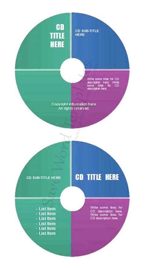 cd label templates for word 13 cd cover template microsoft images cd cover template