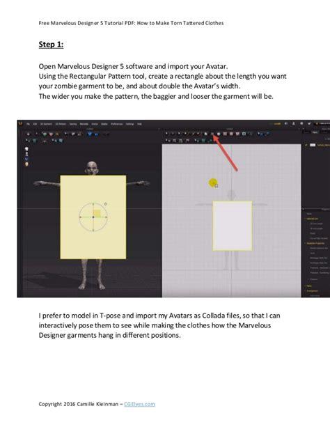 tutorial ci 3 pdf free marvelous designer 5 tutorial pdf how to make torn