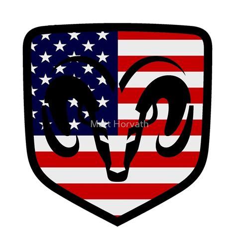 dodge ram logo quot dodge ram flag logo quot by matt horvath