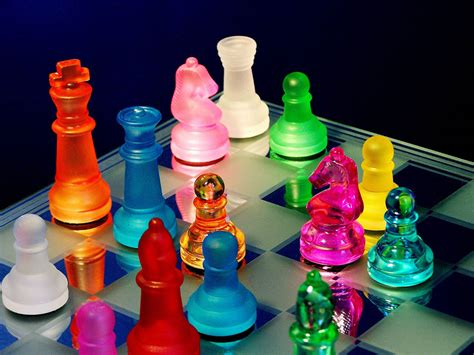 Colorful Set wallpapers chess wallpapers