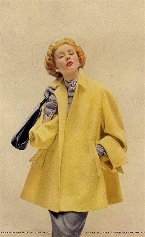 swing style mode 1950s suzy yellow swing coat jacket trapeze