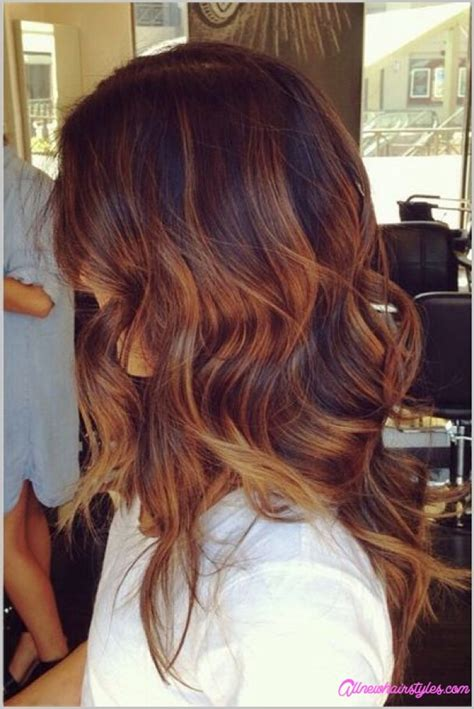 brunette hairstyles with copper highlights brown hair copper highlights allnewhairstyles com