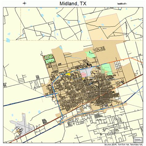 midland texas on map midland tx