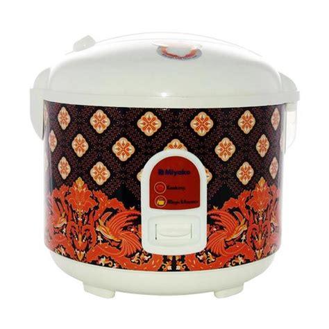 Rice Cooker Miyako Motif Batik jual miyako mcm 528btk batik magic 1 8 l 3in1