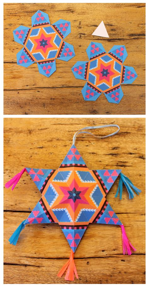 mexican diy paper stars for decorations fiestas papel