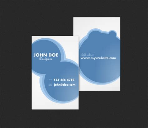 3 Part Card Template by Free Business Card Templates To Part 3