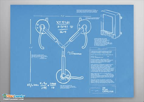 Home Design Blueprints the flux capacitor poster
