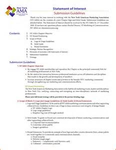statement of interest templatereference letters words