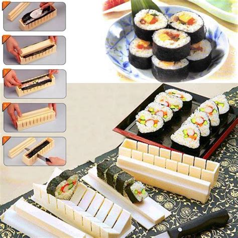 Square Sushi Roll Mould Diskon new diy cooking tools roll sushi mold home kitchen dinner