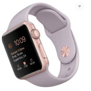Rose Gold Appliances apple smart watch sport 38 mm aluminium case with band rs