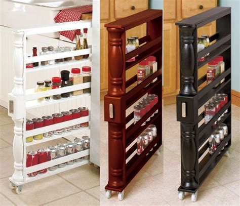 Rolling Spice Cabinet by Rolling Slim Can Spice Rack Space Saver Storage