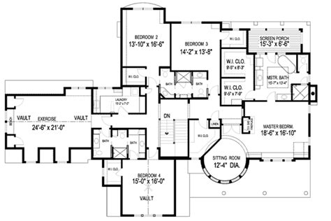 plan w20095ga spectacular home for the large family e