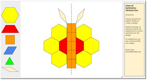 pattern block symmetry activities control alt achieve pattern block templates and