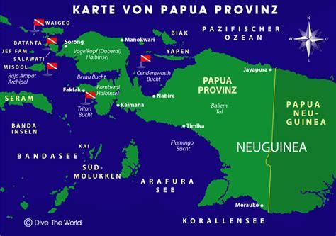 karte von indonesischen papua west papua provinz raja