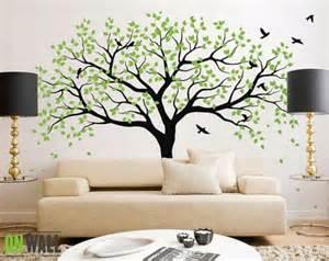 Elegant Wall Murals elegant green tree wall mural 261273 home design ideas