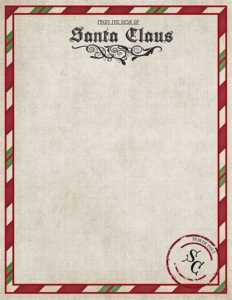 best photos of letter from santa stationary template free printable santa letterhead templates letter template