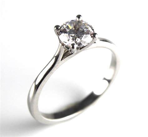 unique1ct solid silver rhodium platinum engagement