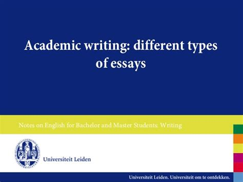kinds of essay writing types of essay writing examples essay